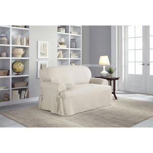 Admirable Serta Cotton Duck T Cushion Loveseat Slipcover Satpai Buper Creativecarmelina Interior Chair Design Creativecarmelinacom
