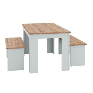 Ocheltree Dining Set With 2 Benches By Beachcrest Home