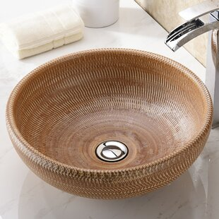 ANZZI Earthen Glass Circular Vessel Bathroom Sink
