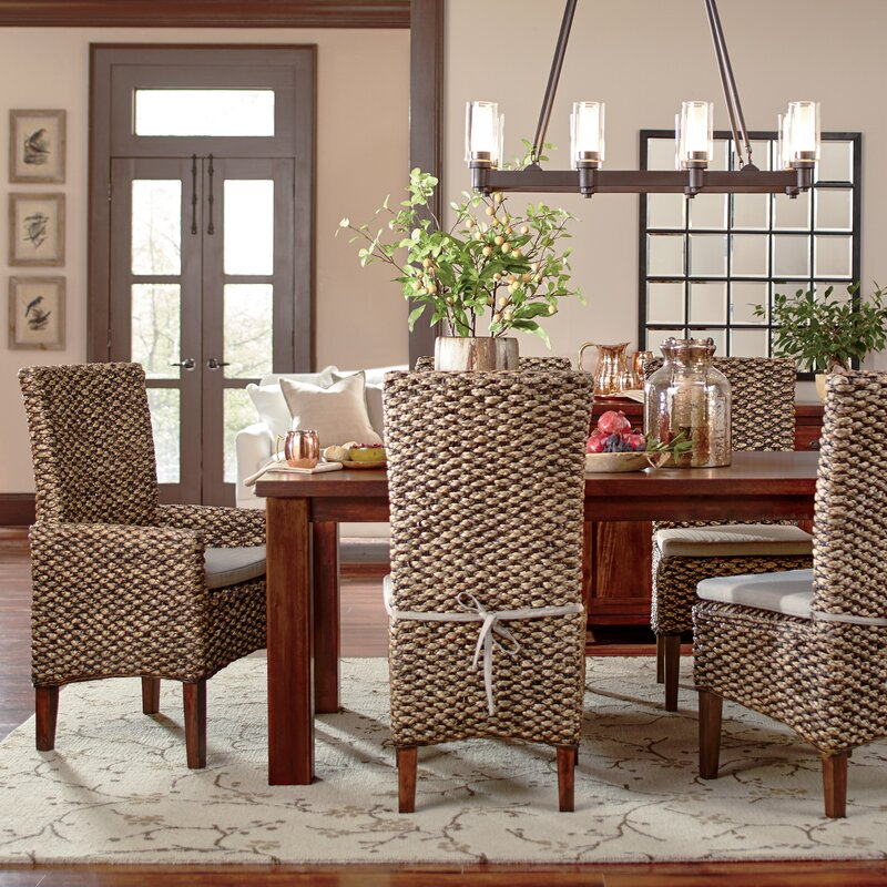 Woven Seagrass Side Chairs