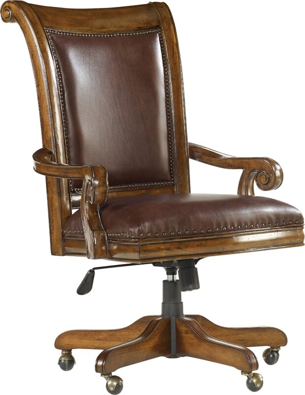 Tynecastle Leather Bankers Chair - Banker's Chairs You'll Love Wayfair