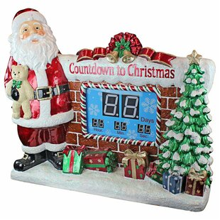 santas countdown to christmas decorative accent