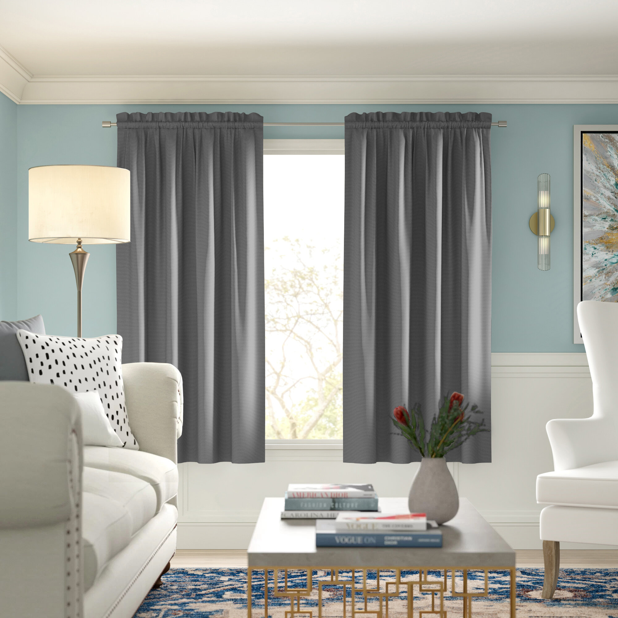 Modern Farmhouse Curtains Drapes Joss Main