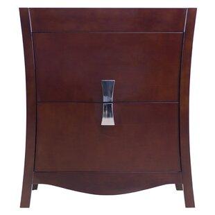 Allbee Modern Birch Wood-Veneer 30 Bathroom Vanity Base Only by Latitude Run