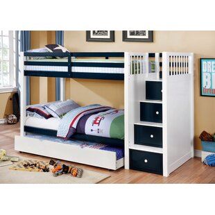 Dowding Twin over Twin Bunk Bed with 4 Drawers by Harriet Bee