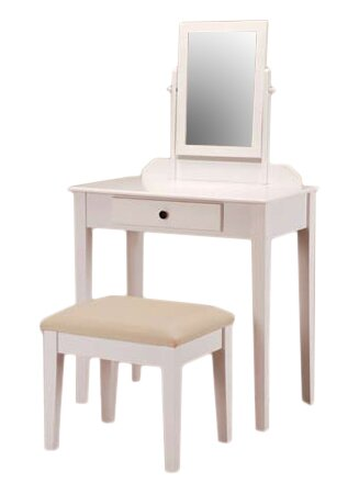 Mcgraw Vanity Set with Stool and Mirror