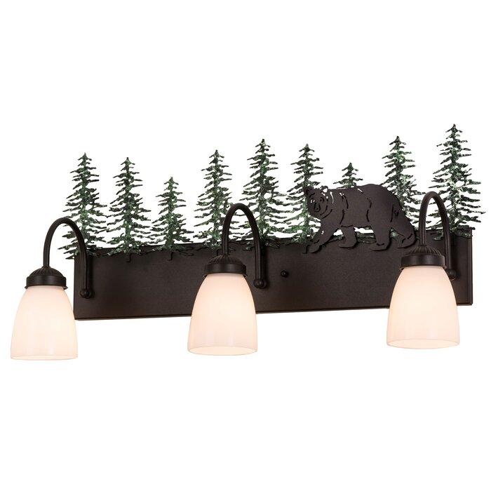 Northwoods Lone Bear 3 Light Vanity