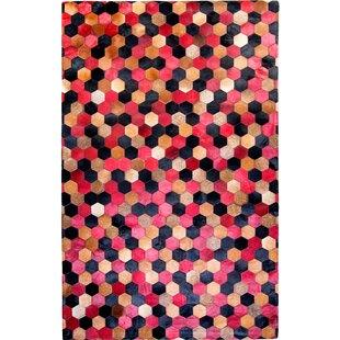 Trend Hosford Cowhide Red/Black Area Rug ByBrayden Studio