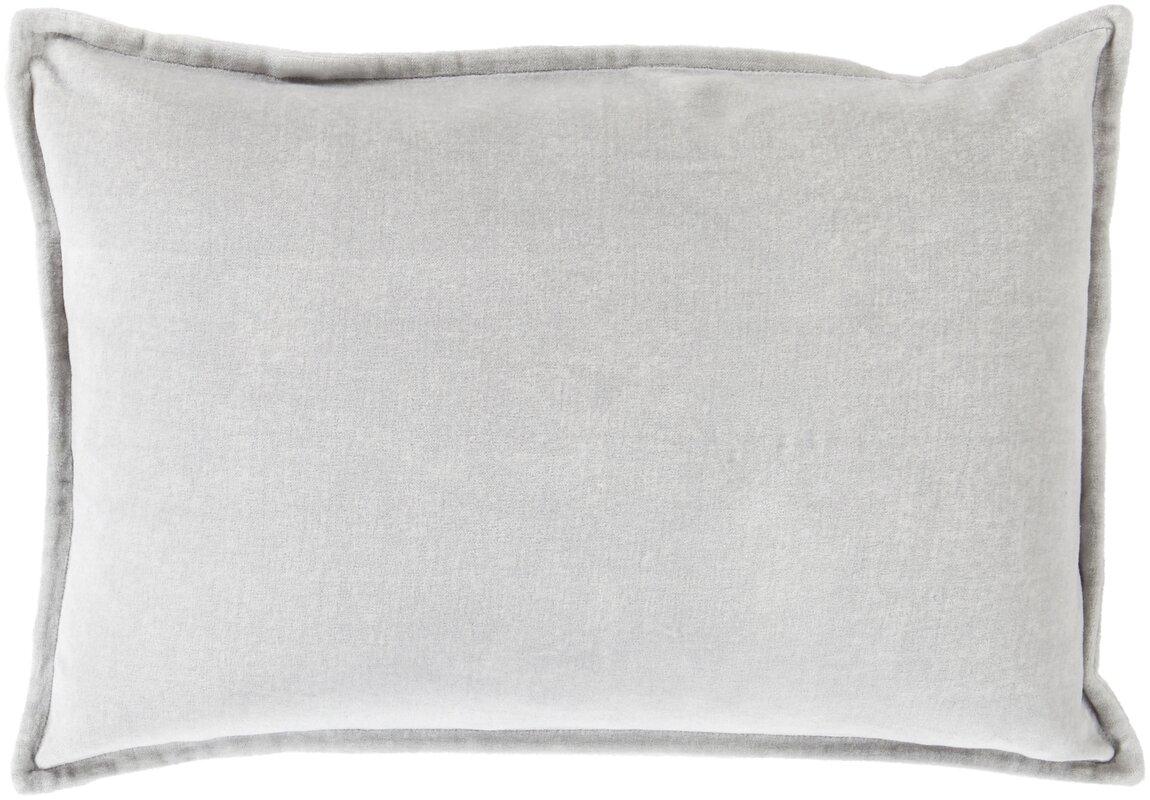 Light Grey Velvet Lumbar Pillow #velvet #velvetpillow