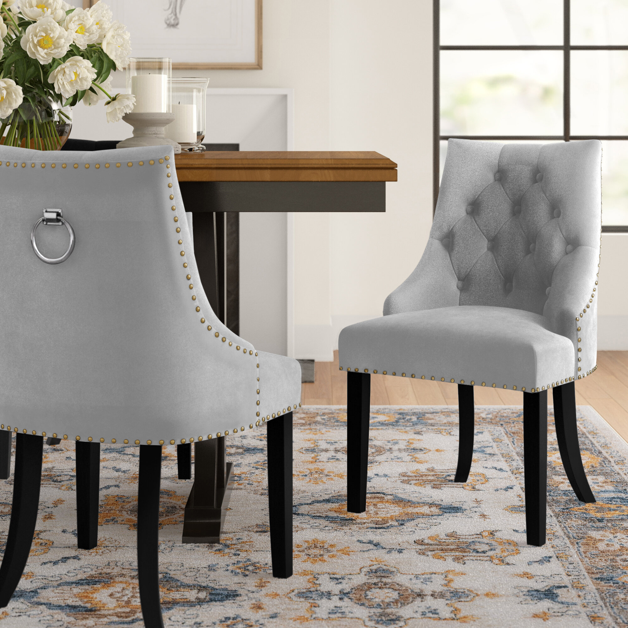 Picture of: Three Posts Brannon Upholstered Dining Chair Reviews