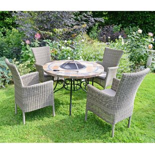Joyce 4 Seater Dining Set With Cushions By Sol 72 Outdoor