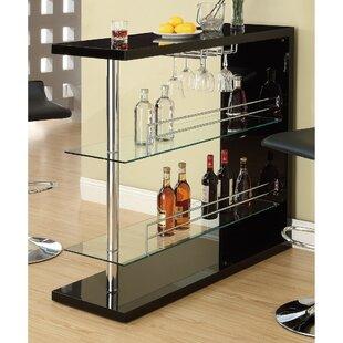 Teeken Rectangular Bar with Wine Storage by Ebern Designs