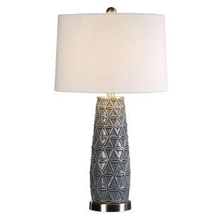 Great Price Rose Stone 27 Table Lamp By World Menagerie
