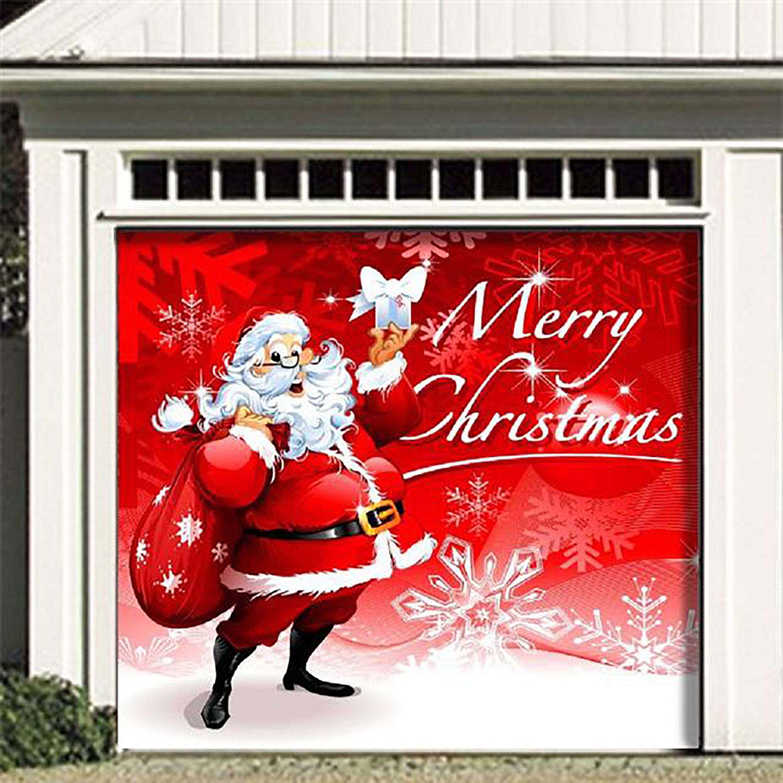 The Holiday Aisle Santa S Merry Christmas Garage Door Mural Reviews Wayfair