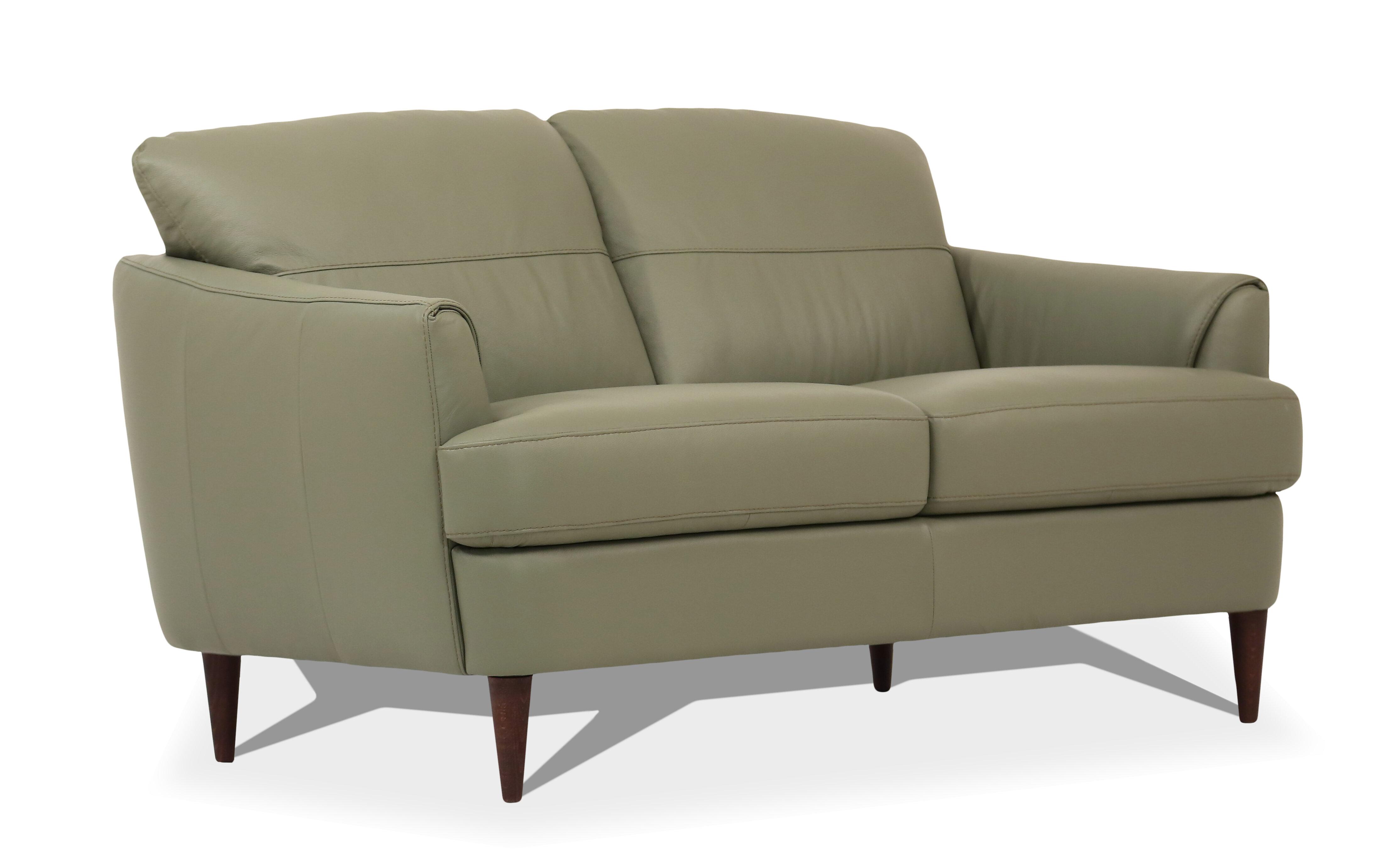 Enjoyable Bova Leather Loveseat Bralicious Painted Fabric Chair Ideas Braliciousco