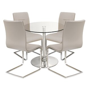 Islais Dining Set With 4 Chairs By Metro Lane