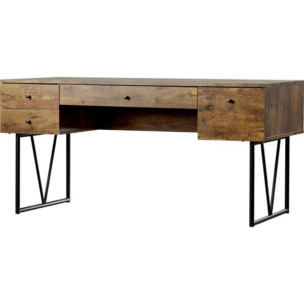 All Wood Office Desk: Granite 4 Drawers Writing Desk & Reviews