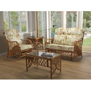Caswell 4 Piece Conservatory Sofa Set By Bay Isle Home