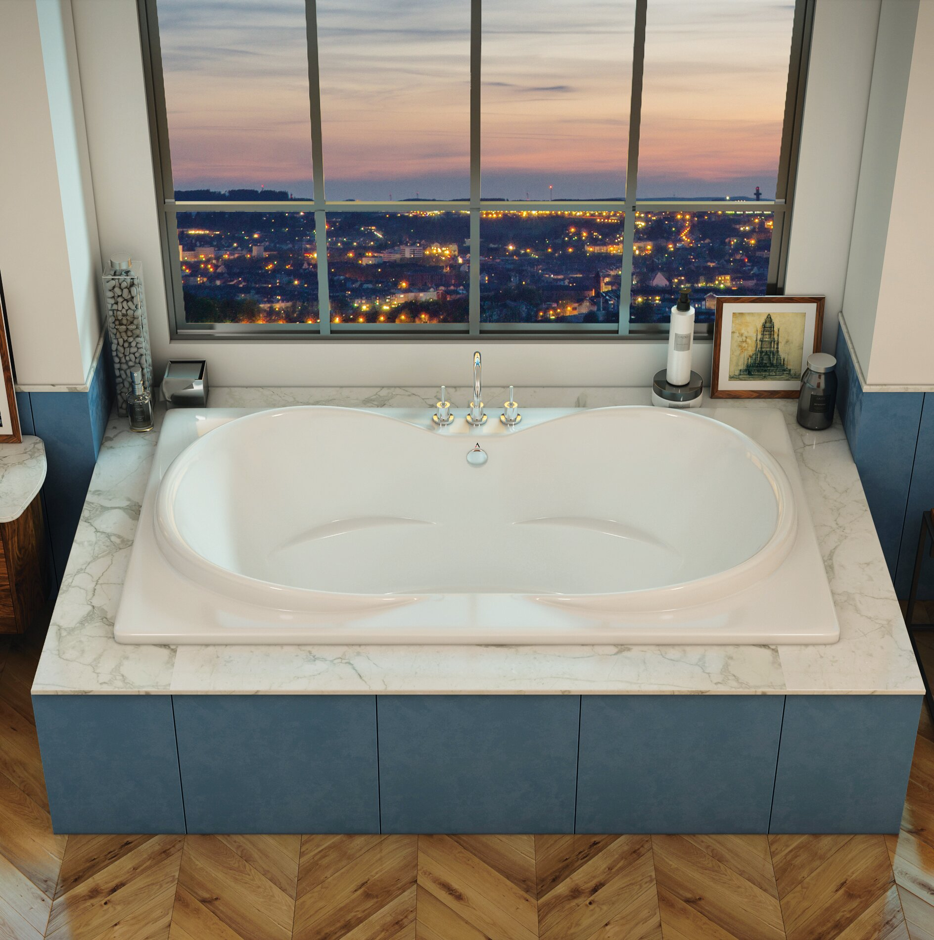 Americh Icaro 72 X 42 Drop In Air Bathtub Wayfair