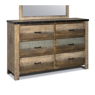 Zager 6 Drawer Double Dresser by Millwood Pines
