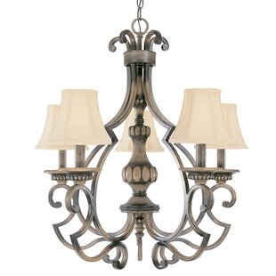 Westchester 5-Light Shaded Chandelier by Classic Lighting