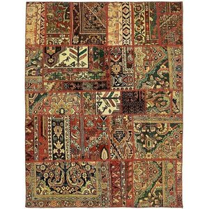 Sela Vintage Persian Hand Woven Wool Red/Beige Tribal Geometric Area Rug