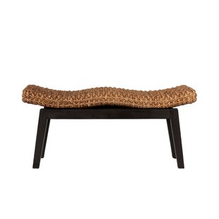 Vincenza Wood And Wicker Bench By Blue Elephant