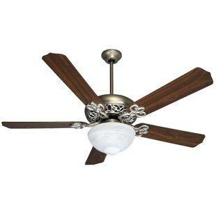 Comparison 52 Jerseyville 5-Blade Ceiling Fan By Alcott Hill