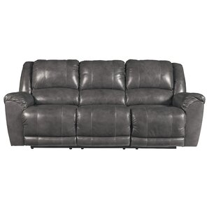 Waterloo Reclining Sofa  sc 1 st  Wayfair & Grey Leather Sofas Youu0027ll Love | Wayfair islam-shia.org