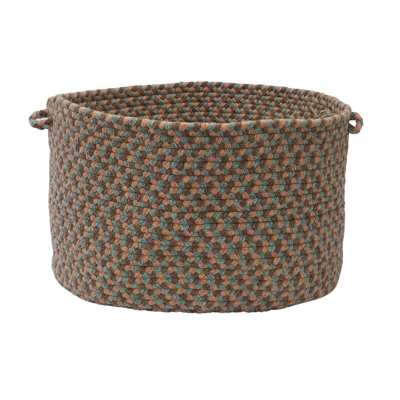 "Alcott Hill Lettie Utility Basket  Size: 18"" x 12"", Color: Driftwood Teal"
