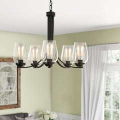 Farmhouse Rustic Shaded Chandeliers Birch Lane
