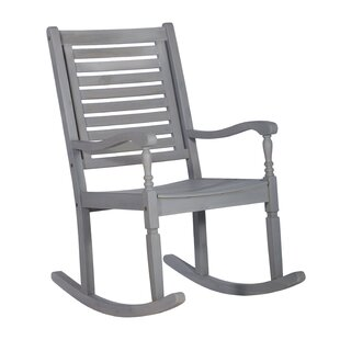 Zinnia Solid Acacia Wood Patio Rocking Chair