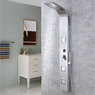 Multi-Function Rainfall Waterfall Shower Tower Panel Massage Jets System with Handheld Shower Includes Rough-In Valve