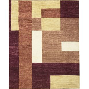 Best Reviews One-of-a-Kind Gabbeh Hand-Knotted Wool Purple Wine Area Rug By Bokara Rug Co., Inc.