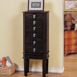 Bargain 5 Drawer Jewelry Armoire with Flip Top Mirror By CTE Trading