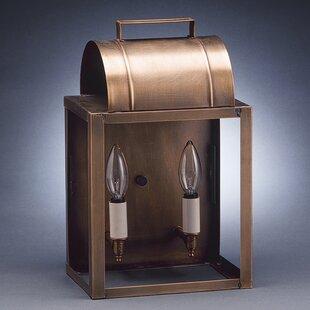 Northeast Lantern Livery 2-Light Outdoor Flush Mount