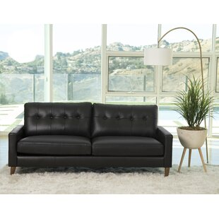 Navy Leather Sofa Set | Wayfair