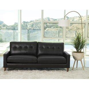 Annalise Wright Leather Sofa Corrigan Studio