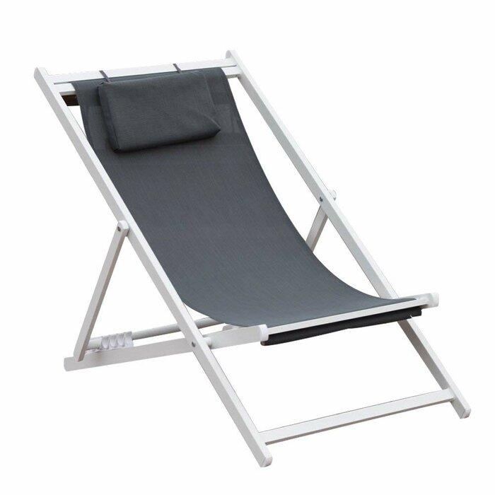 Robert Outdoor Portable Folding Beach Chair with Cushion