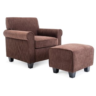 Winston Porter Elsie Accent Armchair and Ottoman