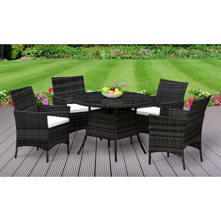 Jenifer 4 Seater Dining Set with Cushions by Lynton Garden