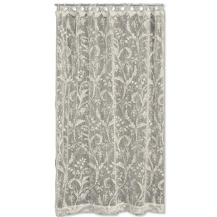 Coventry Nature Floral Semi Sheer Rod Pocket Single Curtain Panel By Heritage Lace