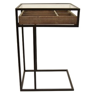 Williston Forge Berube Metal / Wood End Table