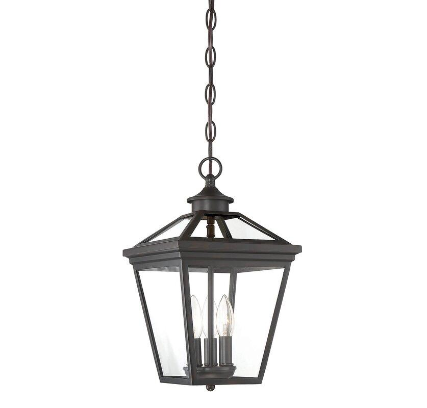 Coleg 3 Light Outdoor Hanging Lantern