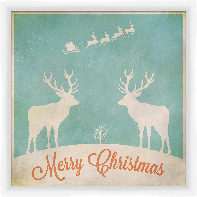 Ptm Images Merry Christmas Framed Textual Art Wayfair