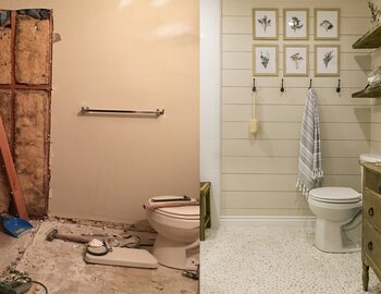 Before U0026 After: Spa Bathroom Rises From The Rubble Part 96