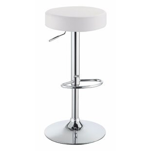 Wroblewski Backless Adjustable Height Swivel Bar Stool by Orren Ellis