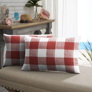 Bagely Buffalo Lumbar Pillow (Set of 2)