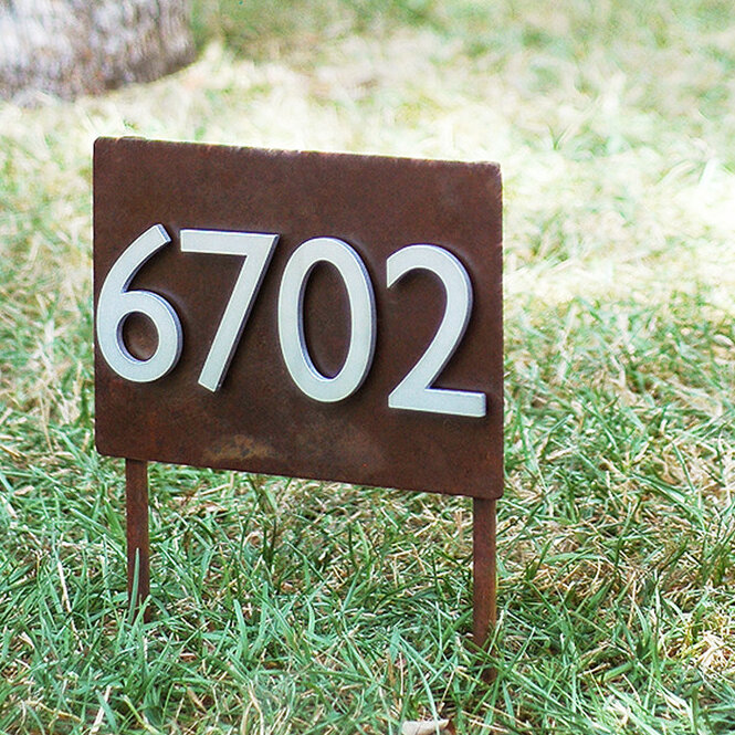 Urbanmettle Sunset Valley Yard 1 Line Lawn Address Sign Reviews Wayfair
