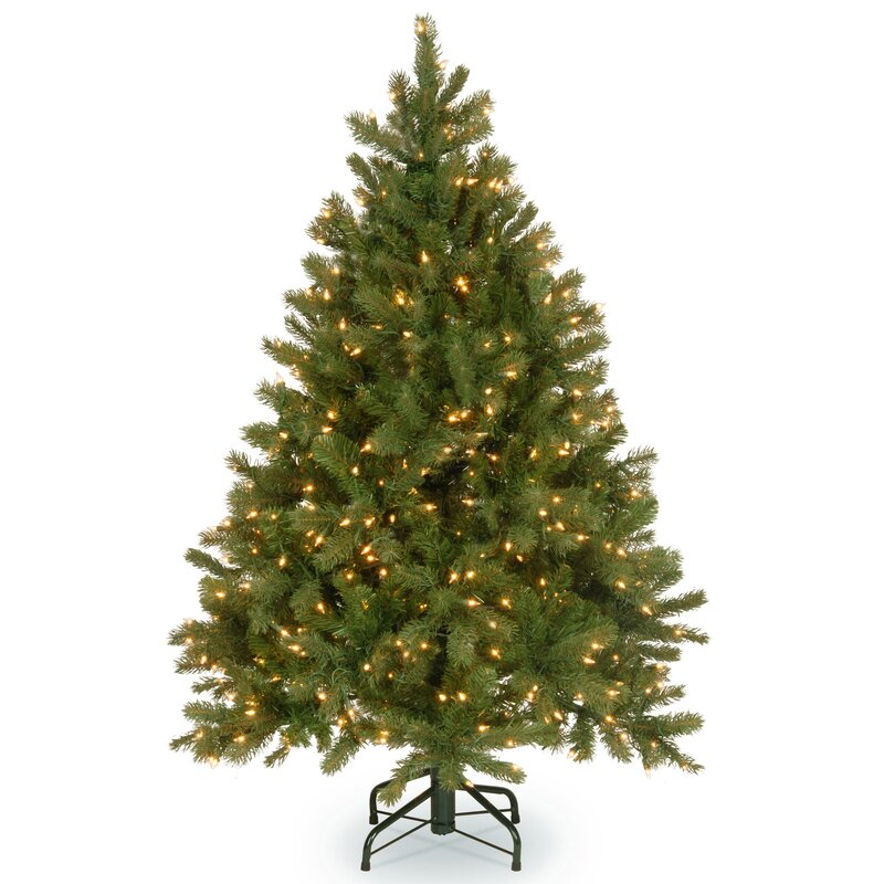 National Tree Co Downswept Douglas Green Fir Artificial Christmas Tree With 300 Color Clear Lights Reviews Wayfair
